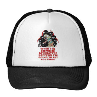 Zombie Eat You First Trucker Hat