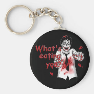 Zombie Eating Basic Round Button Keychain