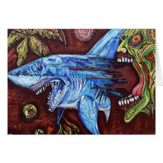 Zombie Eats Shark Card