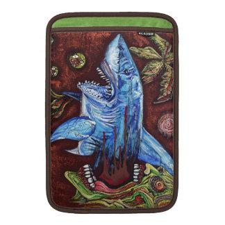 Zombie Eats Shark MacBook Sleeve