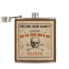 Zombie Elixir Customizable Flask at Zazzle