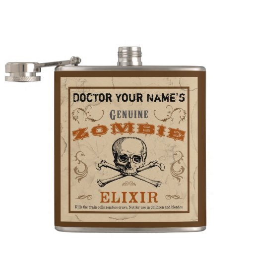 Zombie Elixir Customizable Flask
