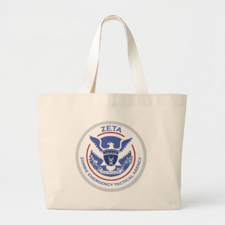Zombie Emergency Tactical Agency Logo/Seal Canvas Bag
