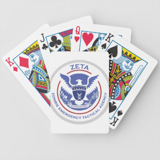 Zombie Emergency Tactical Agency Logo/Seal Bicycle Playing Cards