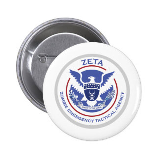 Zombie Emergency Tactical Agency Logo/Seal Pinback Button