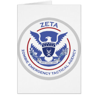 Zombie Emergency Tactical Agency Logo/Seal Card