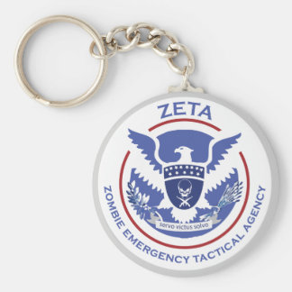 Zombie Emergency Tactical Agency Logo/Seal Keychain