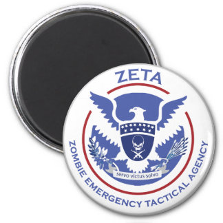 Zombie Emergency Tactical Agency Logo/Seal Magnets