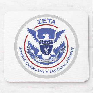 Zombie Emergency Tactical Agency Logo/Seal Mouse Pads