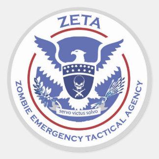 Zombie Emergency Tactical Agency Sticker