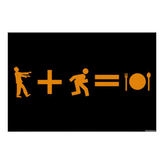 """Zombie Equation 24"""" x 36"""" Poster"""