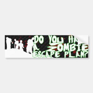 Zombie Escape Plan bumper sticker