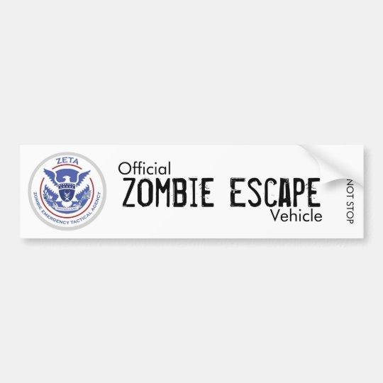 Zombie Escape Vehicle Bumper Sticker