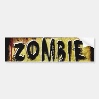 Zombie Etiquette Car Bumper Sticker