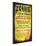 Zombie Etiquette Gallery Wrap Canvas