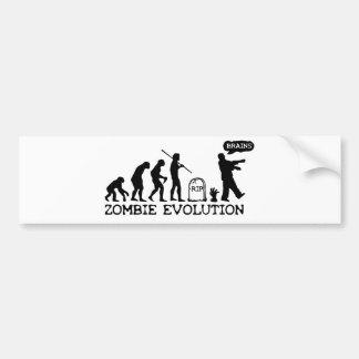 Zombie Evolution Car Bumper Sticker