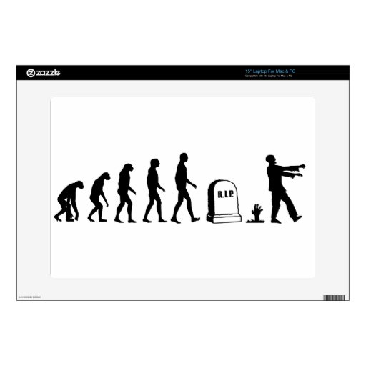Zombie Evolution Decal For Laptop