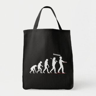 Zombie Evolution Grocery Tote Bag