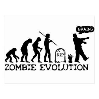 Zombie Evolution Postcard