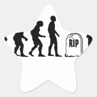 ZOMBIE EVOLUTION STAR STICKER