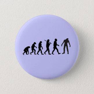 Zombie Evolution T-shirt Design Button