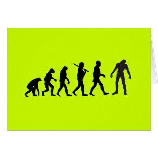 Zombie Evolution T-shirt Design Card
