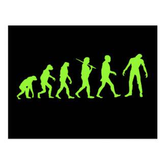 Zombie Evolution T-shirt Design Postcard