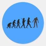 Zombie Evolution T-shirt Design Sticker