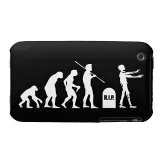 Zombie Evolutionary evolution chart funny science iPhone 3 Case