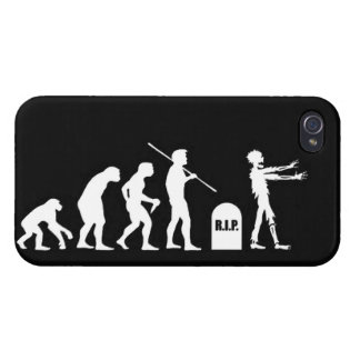 Zombie Evolutionary evolution chart funny science iPhone 4 Case