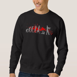 Zombie Evolutionary evolution chart funny science Pullover Sweatshirts