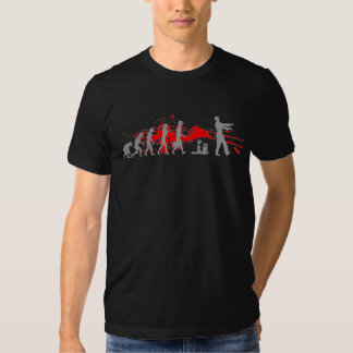 Zombie Evolutionary evolution chart funny science Shirts