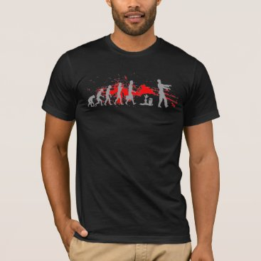 Caliburr Zombie Evolutionary evolution chart funny science T-Shirt