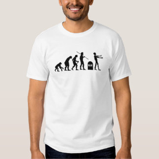 Zombie Evolutionary evolution chart funny science T-shirts