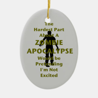 Zombie Excited Christmas Ornament