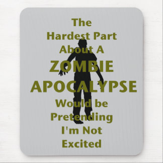 Zombie Excited Mouse Pad