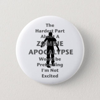 Zombie Excited Pinback Button