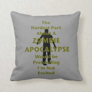 Zombie Excited Throw Pillow