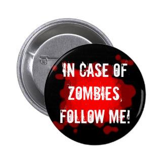 Zombie Expert (black) 2 Inch Round Button