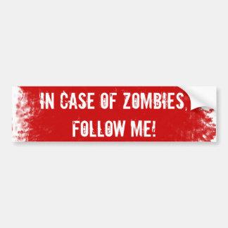 Zombie Expert Label Bumper Sticker