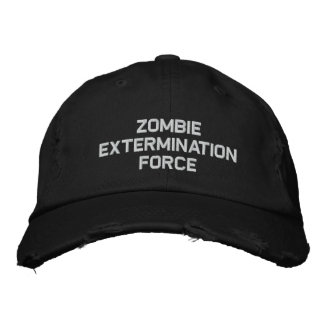 ZOMBIE EXTERMINATION FORCE EMBROIDERED BASEBALL CAP