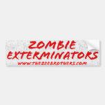 Zombie Exterminators Bumper Sticker White Car Bumper Sticker