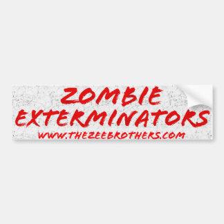 Zombie Exterminators Bumper Sticker White