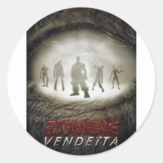 Zombie Eye Classic Round Sticker