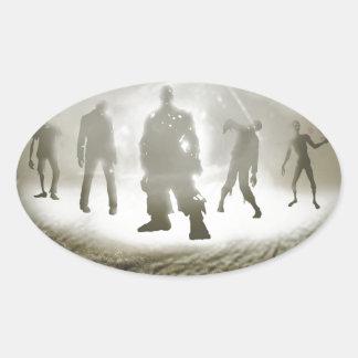 Zombie Eye Oval Sticker