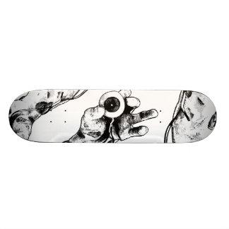 Zombie eyeball skateboard deck