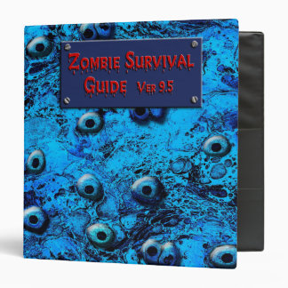 'Zombie Eyes' By Philippine Marbled Paper 3 Ring Binder