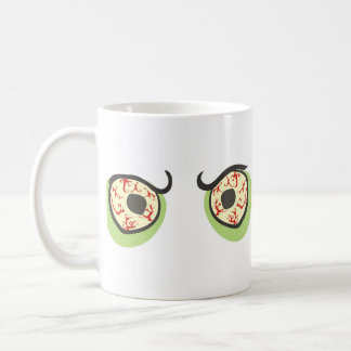 Zombie eyes coffee mug