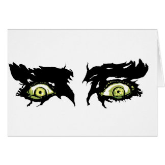 ZOMBIE EYES - Scary Roguish Eyes Card