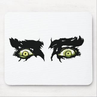 ZOMBIE EYES - Scary Roguish Eyes Mouse Pad